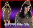 FANCY DRESS COSTUME 40'S WW2 ARMY GIRL XS 6-8